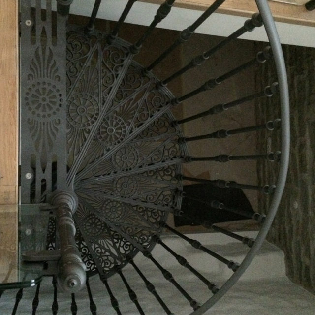 Cast Iron Staircase, Railing And Furnishing